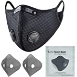 Colbiz Dust Face Mask Reusable with Activated Carbon Filters Protective Face Masks, Breathable Adjustable Sports Mask…