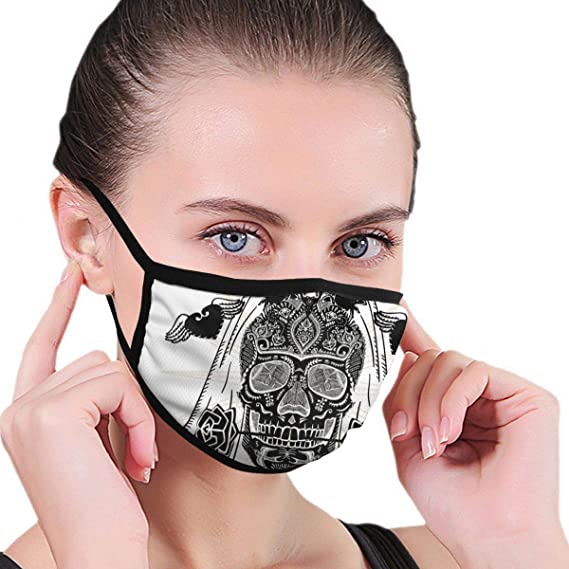 Máscara antipolvo unisex decorada a mano con calavera de novia de ...