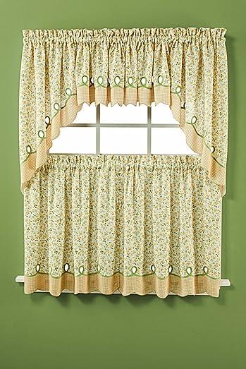 Saturday Knight Ltd. Ashley Tier Curtain Pair – 28 1 2 x 36