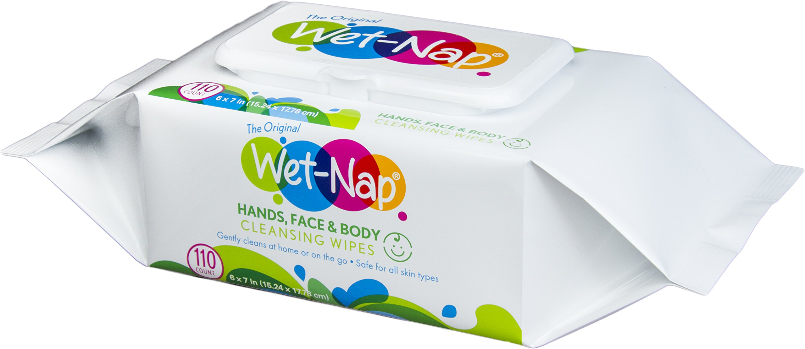 Wet-Nap Hands and Face Cleansing Wipes, 110 Count (Pack of  6)