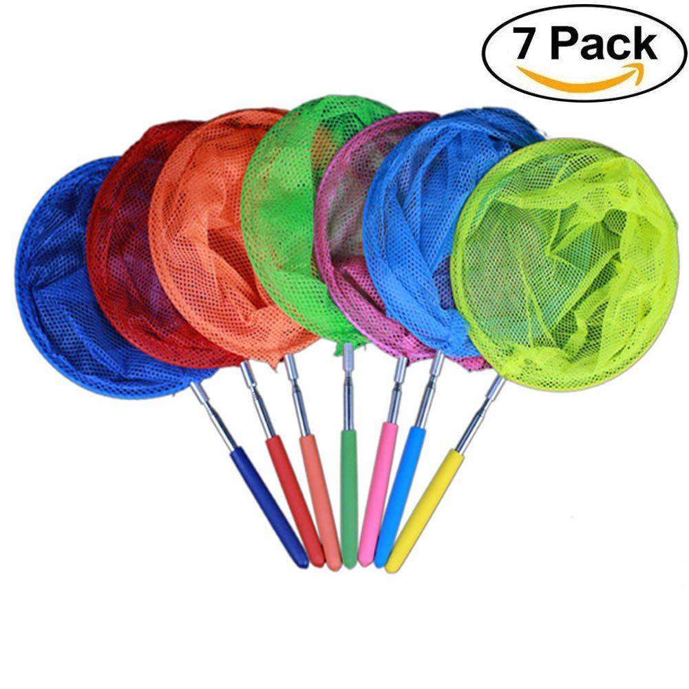 Sbarden Telescopic Handle Net, Child Butterfly Catcher Insect Fishing Net Pool Pond Leaves Fishing Garden Toys