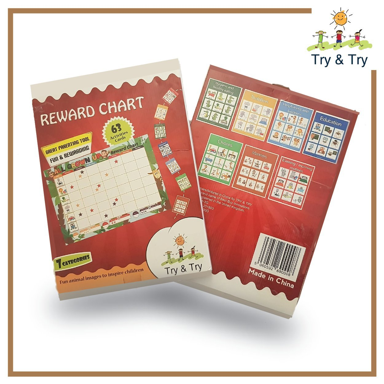 PERSONALISED CHILDREN/'S REWARD CHART WITH GOLD STARS