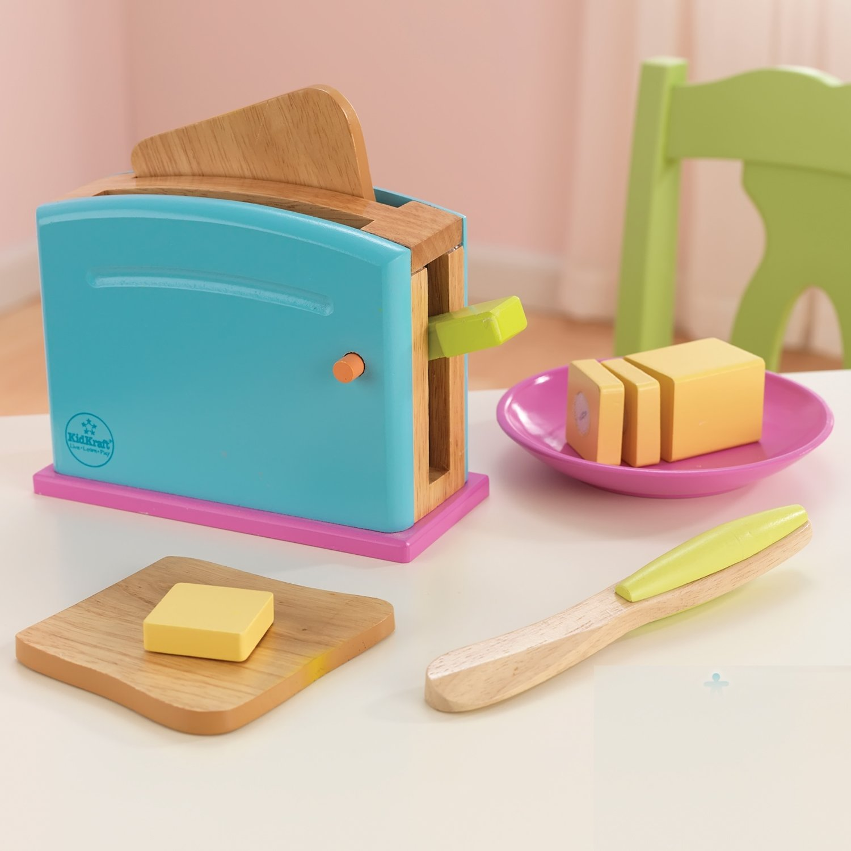 Amazon.com: KidKraft Bright Toaster Set: Toys & Games
