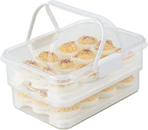 SnapLock by Progressive Collapsible Egg Carrier, One Size, White