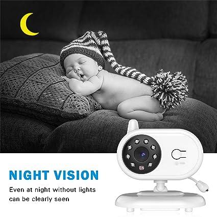 Monitor de Bebé, Baby Monitor LESHP Vigilabébé Inalambrico Cámara de Bebé TFT 3.5