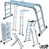AARTIN MultipurposeAluminium super ladder 3x4 with GI Platform and Tool Tray
