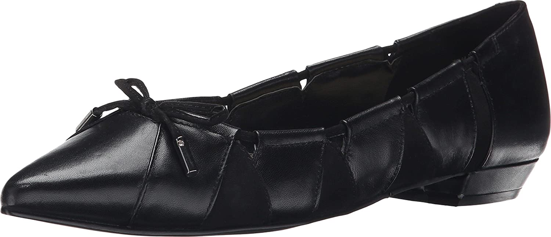 Nine West Women's Tallett Black/Black Sheep Tudor/G3000 Flat 8.5 M low-