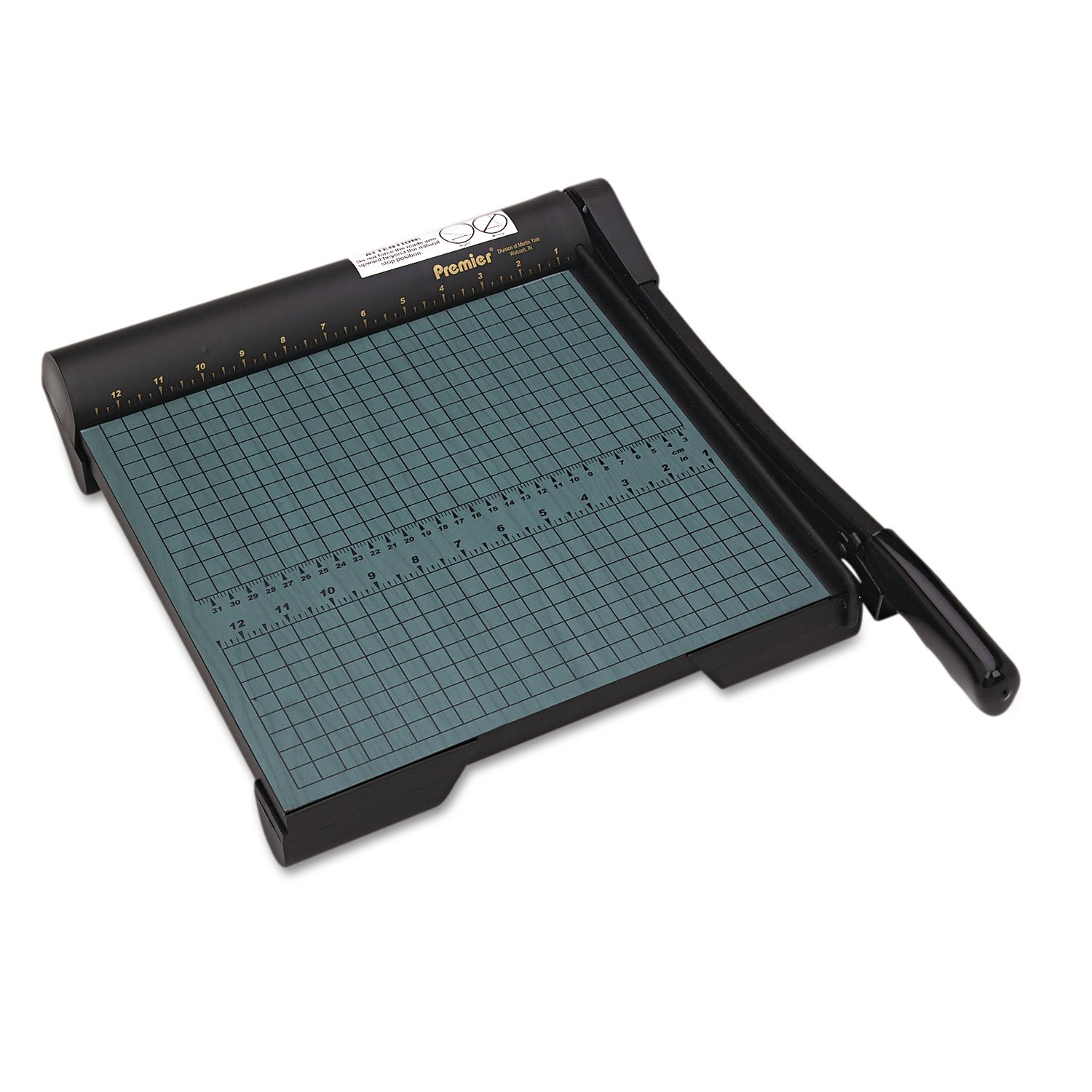 Premier W12 The Original Green Paper Trimmer, 20 Sheets, Wood Base, 12 1/2''x 12''