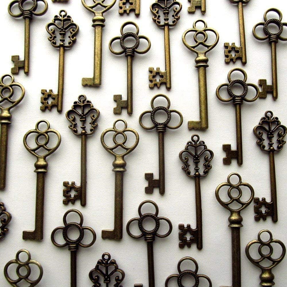 Aokbean Skeleton Keys Charms for Necklace & Bracelet Making