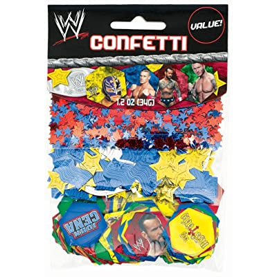 Amscan WWE Wrestling Confetti Value Pack (3 types): Home & Kitchen