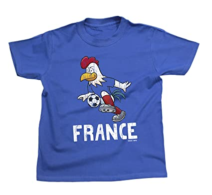 4cc12d7cd Boys Girls T-Shirt France Cartoon Cockerel World Cup 2018 Football Kids  Patriotic French  Amazon.co.uk  Clothing