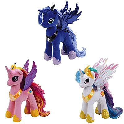 My Little Pony Ty Princess Celestia, Cadance, and Luna Set: Toys & Games