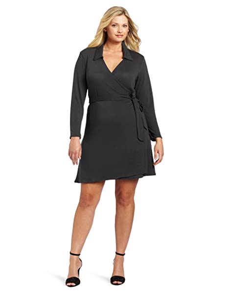 Star Vixen Women\'s Plus-Size Full Wrap Dress