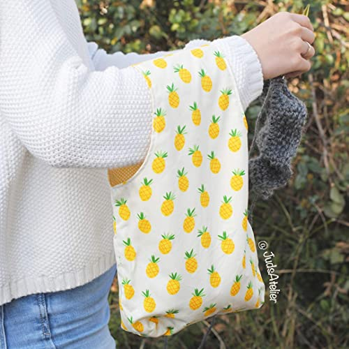 Bolsa para tejer con estampado de piñas by JudsAtelier ...