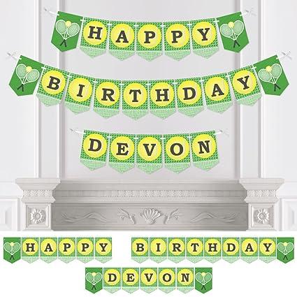 Amazon.com: Pancarta de tenis para fiesta de cumpleaños con ...