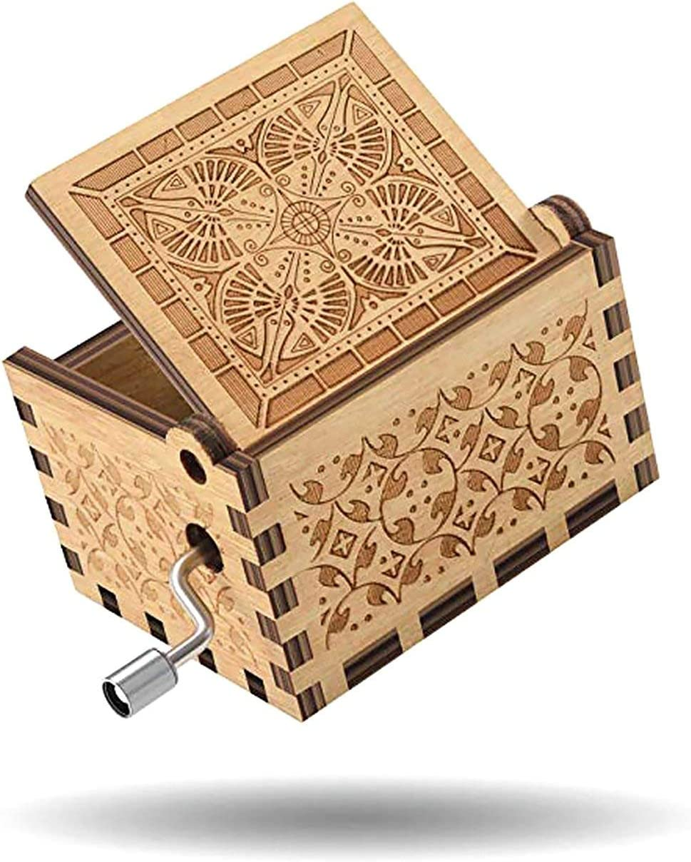 Gift Packaging and Supplies,Romantic Marine Romance Music Box Semi-Manual Semi-Mechanical Carving Decoration Wholesale Wooden Music Box