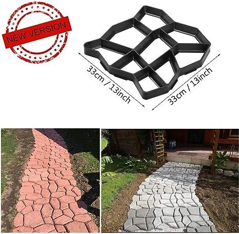 VIPITH - Molde de piedra para hacer paseos de hormigón, de 33 x 33 cm, reutilizable, para patio, patio, patio, jardín, césped: Amazon.es: Jardín