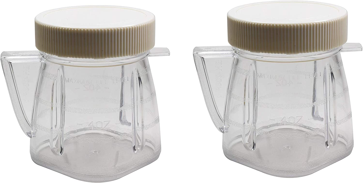 Univen 8 Oz Mini Blender Jar With Sealed Lid for Oster & Osterizer Blenders 2 Pack