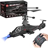 3.5 Channel Remote Control Helicopter RC Army Heli Toy with Gyro & Led for Kids Boys Girls Adults Indoor
