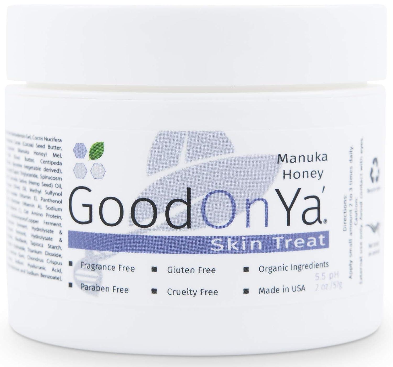 Manuka Honey Face Moisturizer with Coconut Oil, Cocoa Butter, Aloe Vera, Vitamin E and Vitamin C - Anti Aging and Skin Lightening Cream - Pore Minimizer and Whitening MSM Cream - (2 oz)