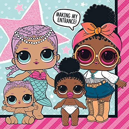SAME DAY DISPATCH UK 6 DIFFERENT DESIGNS LOL DOLL BALLOONS FREE DELIVERY