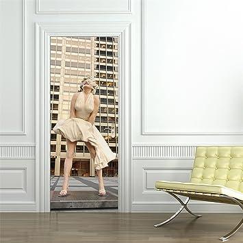 3d Stickers Muraux De Porte Panoramique Decals Classic Marilyn
