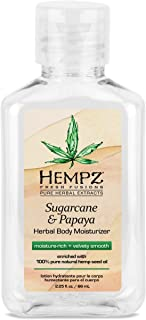 product image for Hempz Herbal Body Moisturizer for Women with 100% Pure Hemp Seed Oil, Sugarcane & Papaya, 2.25 fl. oz. - Moisturizing Lotion with Shea Butter, Vitamins A, B & C, for Dry Skin - Premium Women's Lotion