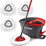 O-Cedar Easywring Microfiber Spin Mop & Bucket Floor Cleaning System with