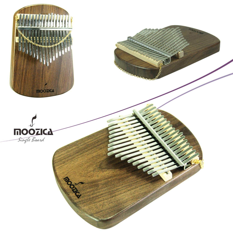 Moozica Kalimba 17 Keys Solid Walnut Wood Kalimba, Solid Walnut Wood Single Board Thumb Piano Marimba with Learning Instruction(K17S-W) by Moozica (Image #5)