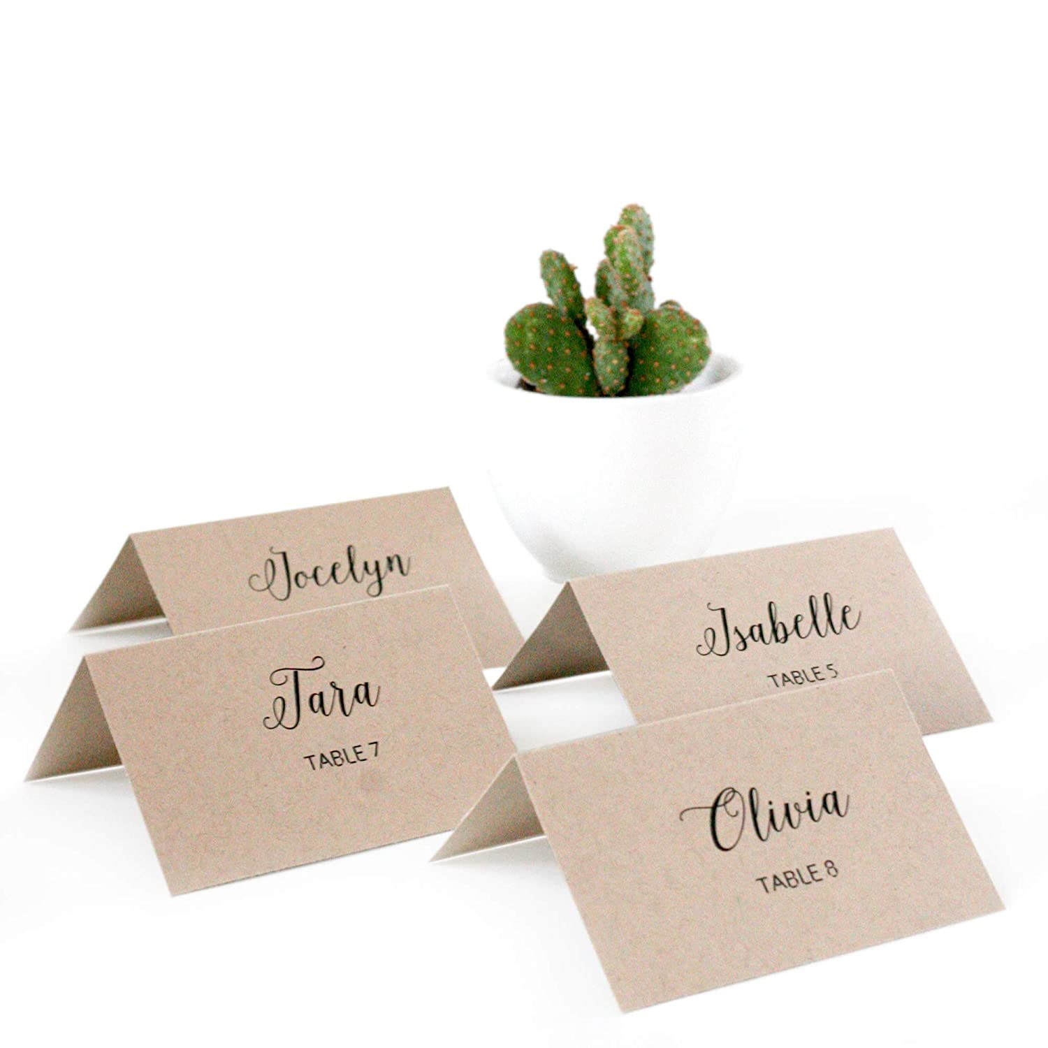 graphic about Printable Place Cards titled BonBon Paper Printable Location Playing cards (Recycled Kraft)