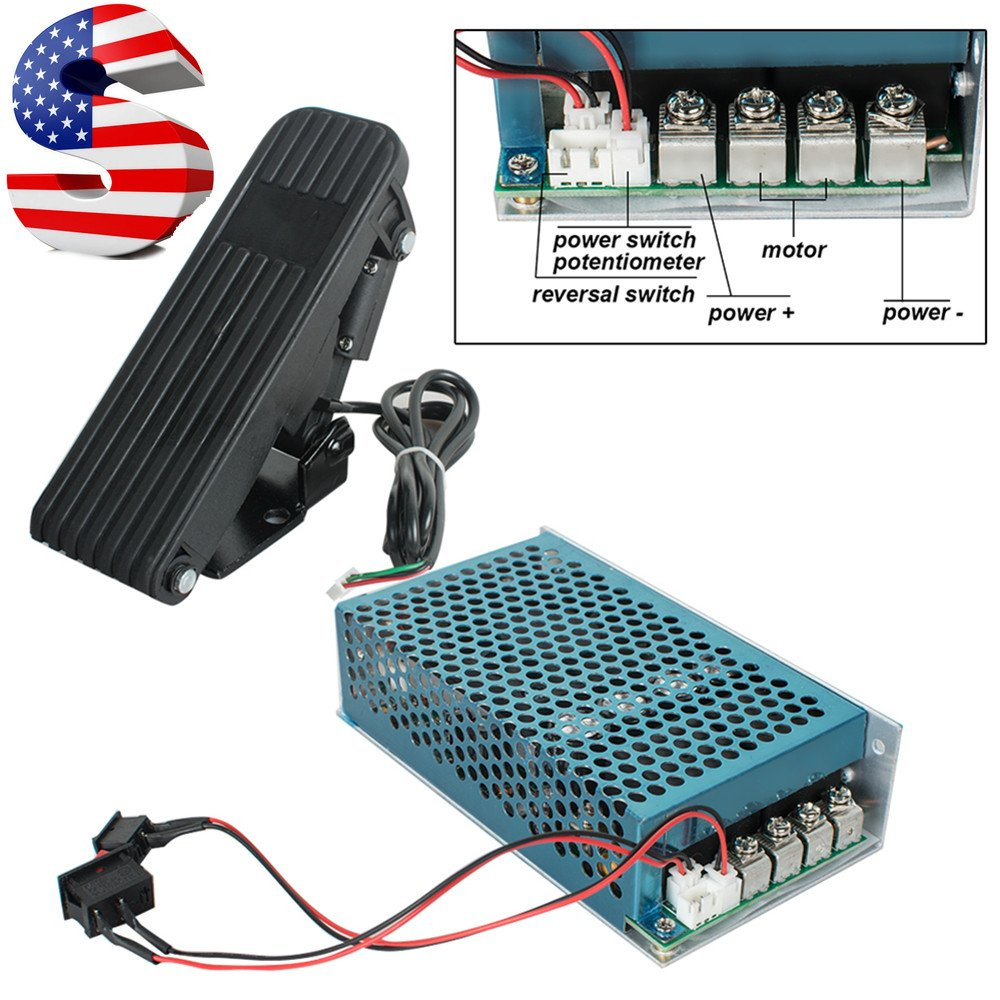Funwill Shipping from USA 10-50V 100A 5000W Reversible DC Motor Speed Controller PWM Control Soft Start Reversing Control Motor Dual Relay