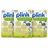 Plink Appliance Freshener, Dishwasher, Washing Machine Cleaner. Fresh Lemon Scent. 12-Count, 3 Pack