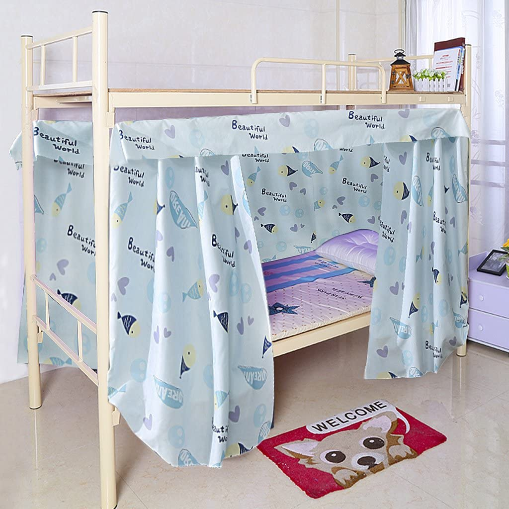 Dormitory Bunk Bed Curtains Dustproof Ventilation Blackout Cloth Mosquito Nets Shading Nets Bed Single Bed Tent