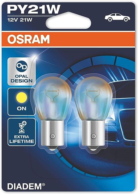 OSRAM DIADEM PY21W indicatore di direzione 7507LDA-02B doppia durata in Blister doppio