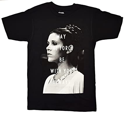 cca57738491 Amazon.com  Star Wars Princess Leia May The Force Be with You T-Shirt   Clothing
