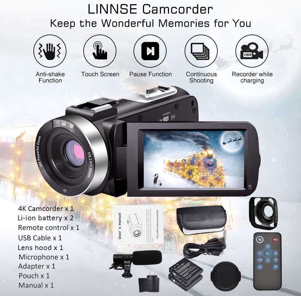alpha-ene.co.jp Video Camera 4K Camcorder Vlogging Camera Recorder ...