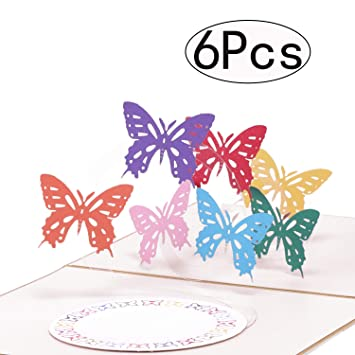Cards Postcard Greeting Card 3D Butterfly Greeting Card Valentine Gift