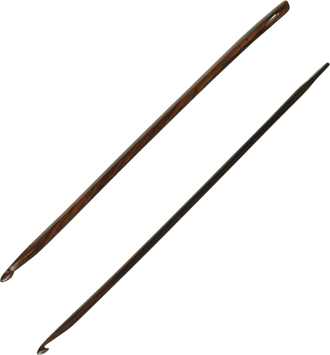 E and F Rosewood 2-Pack 8-Inch Lacis Knooking Needles