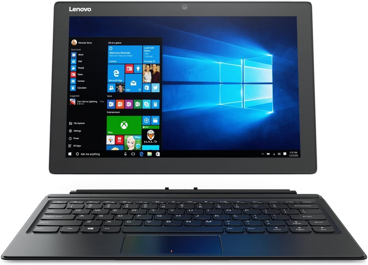 Lenovo Miix 510, 12.2-Inch Windows Laptop, 2 in 1 Laptop, (Intel Core i5, 2.5 GHz, 8 GB DDR4, 128 GB M.2 PCIe SSD, Windows 10 Home), Platinum, 80XE00H3US