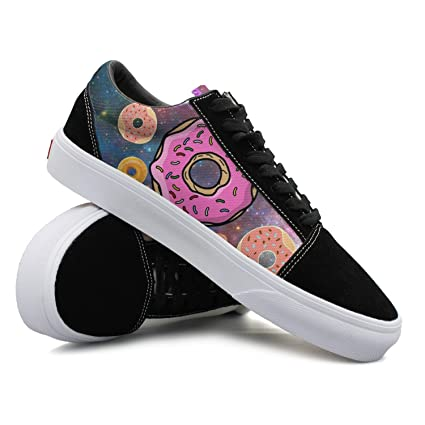 Donuts And Unicorn In The Space Women Casual Shoes Skateboard Sports Fashion Comfortable