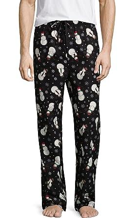 Stafford Men s Winter Snowmen Print Flannel Pajama Pants Sleep Bottoms  (XXX-Large) 134261379