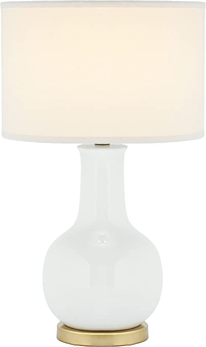 Amazon Com Safavieh Lighting Collection Paris White Ceramic 27 Inch Table Lamp Home Kitchen