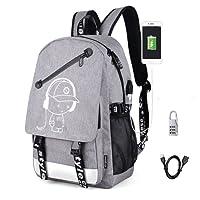 Aokay USB Schulrucksack Schulranzen Schultasche Sports Rucksack Freizeitrucksack Daypacks Backpack mit Dem Schloss für Mädchen Jungen & Kinder Damen Herren Jugendliche