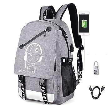 ec174aae70512 Aokay USB Schulrucksack Schulranzen Schultasche Sports Rucksack  Freizeitrucksack Daypacks Backpack mit dem Schloss für Mädchen Jungen