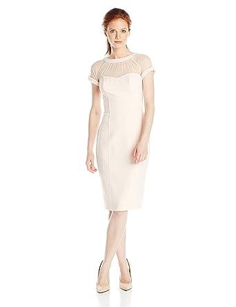 2f4854e0b74d Maggy London Women's Petite Illusion Sheath Dress at Amazon Women's ...