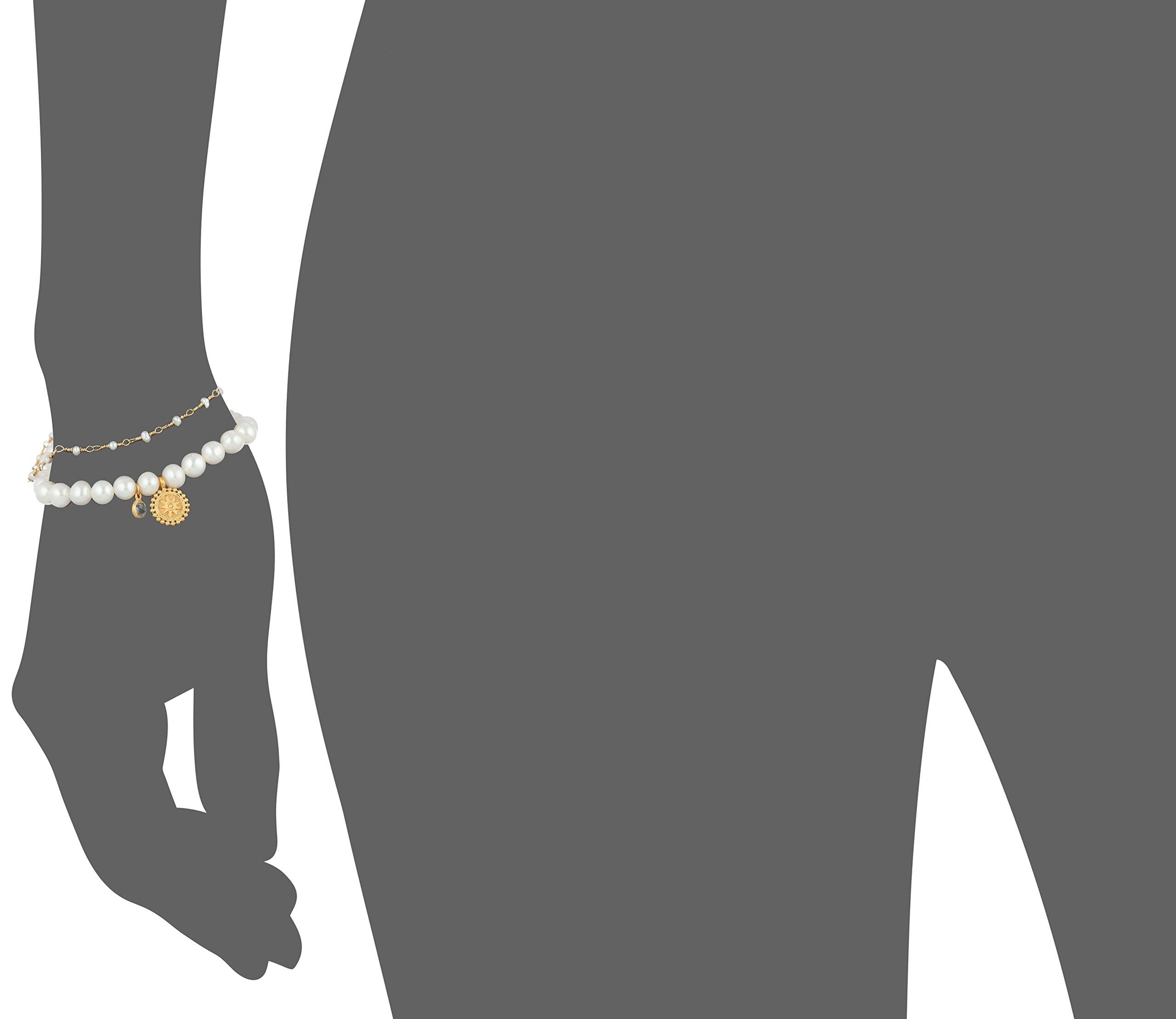 Satya Jewelry Freshwater Pearl Om Mandala Bracelet Set by Satya Jewelry (Image #2)