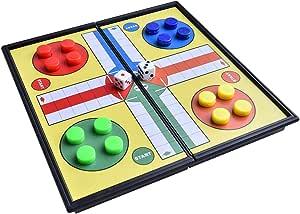 Quantum Abacus Juego de Mesa magnético (versión Super Mini de Viaje): Ludo - Piezas magnéticas, Tablero Plegable, 13cm x 13cm x 1, 2cm, Mod. SC5224 (DE): Amazon.es: Juguetes y juegos