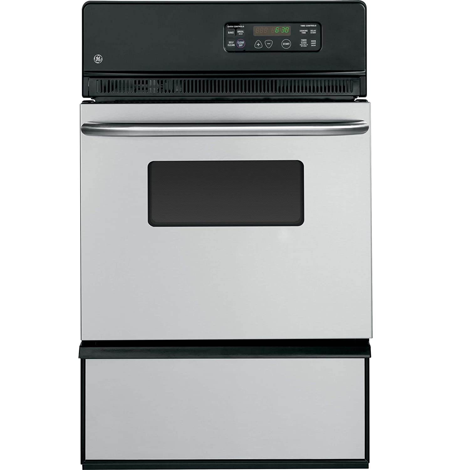 "GE JGRP20SENSS 24"" Stainless Steel Gas Single Wall Oven"