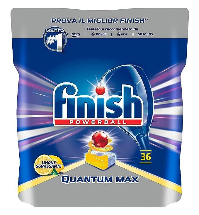 Finish Quantum Max 36 pastillas para lavavajillas Lemon, 580 gr ...