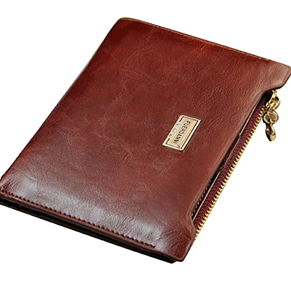 Dayiss® Damen Unisex Geldbörse Herren Portemonnaie Geldbeutel Geldtasche  Kunstleder Wallet Kartenhalter Reißverschluss Ausweisetui fashion  (Kaffebraun)  ... 4d57a3c550